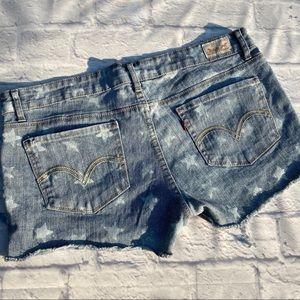 Levi's Star Printed Shorty Short Jean Shorts 17